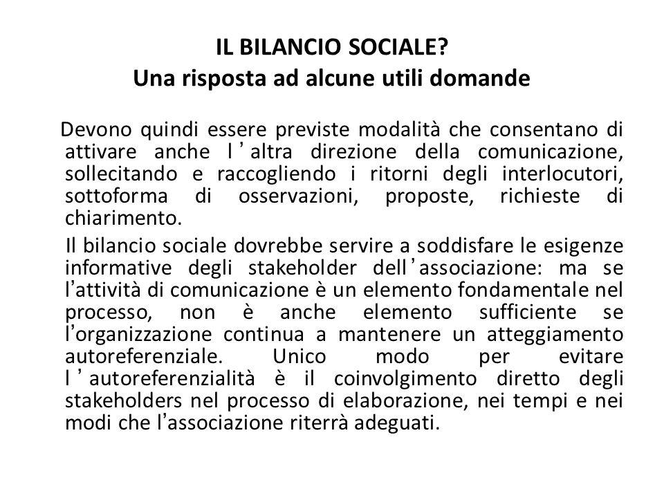 IL BILANCIO SOCIALE.