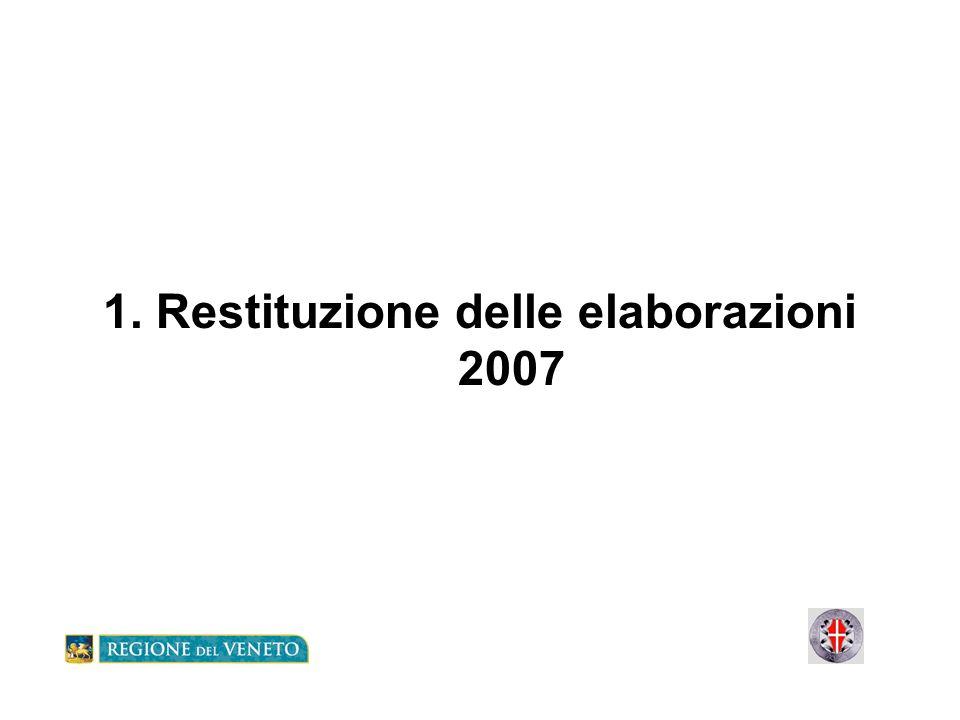 1. Restituzione delle elaborazioni 2007