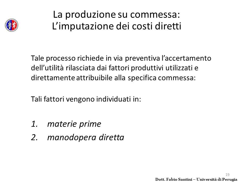 19 Tale processo richiede in via preventiva laccertamento dellutilità rilasciata dai fattori produttivi utilizzati e direttamente attribuibile alla sp