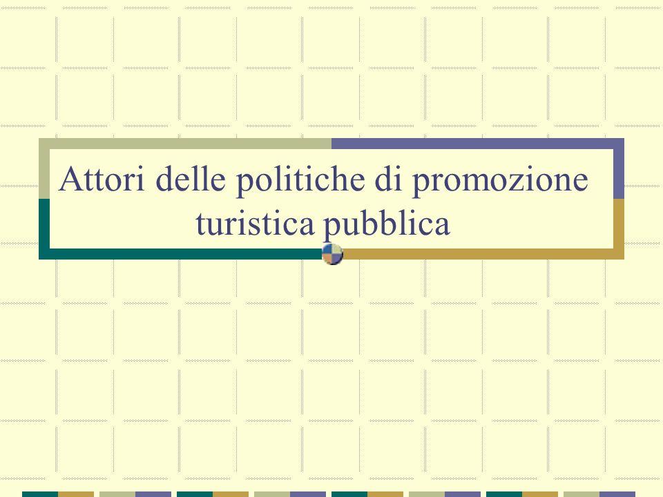 Attori delle politiche di promozione turistica pubblica