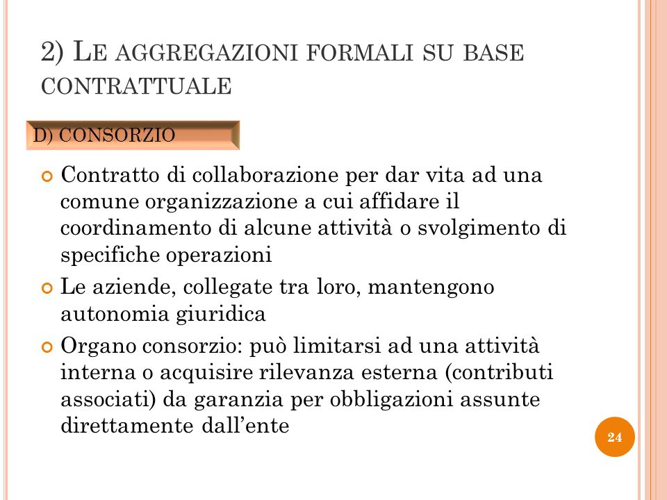 Contratto di collaborazione per dar vita ad una comune organizzazione a cui affidare il coordinamento di alcune attività o svolgimento di specifiche o