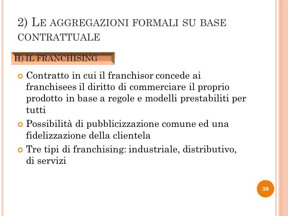 Contratto in cui il franchisor concede ai franchisees il diritto di commerciare il proprio prodotto in base a regole e modelli prestabiliti per tutti