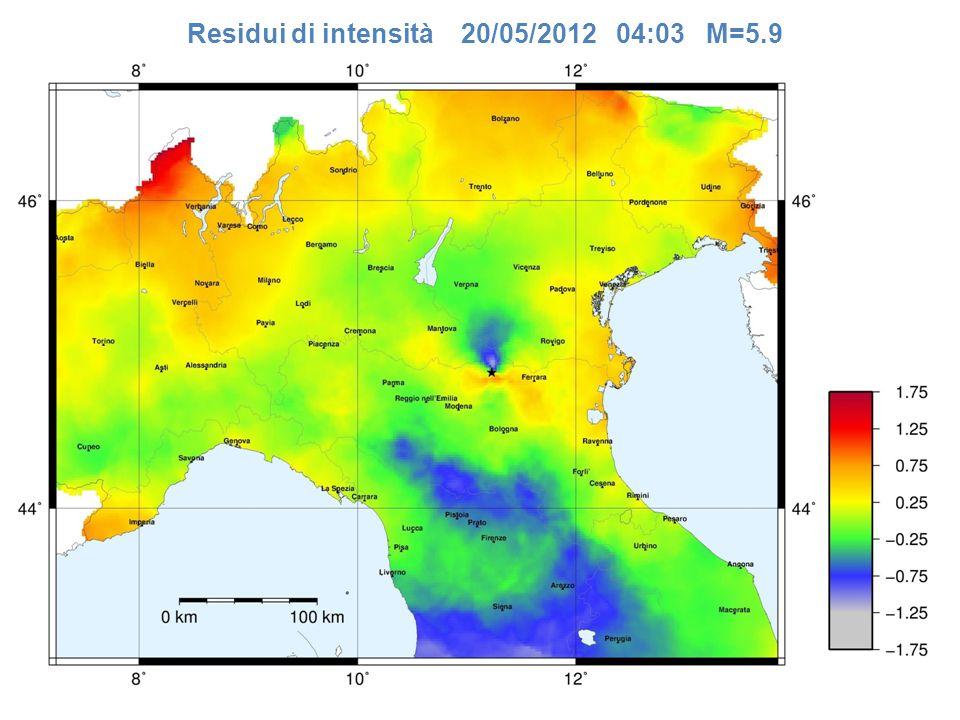 Residui di intensità 20/05/2012 04:03 M=5.9