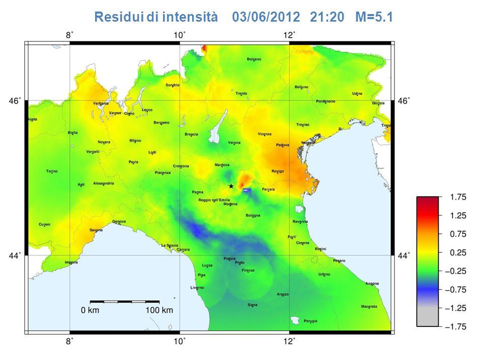 Residui di intensità 03/06/2012 21:20 M=5.1