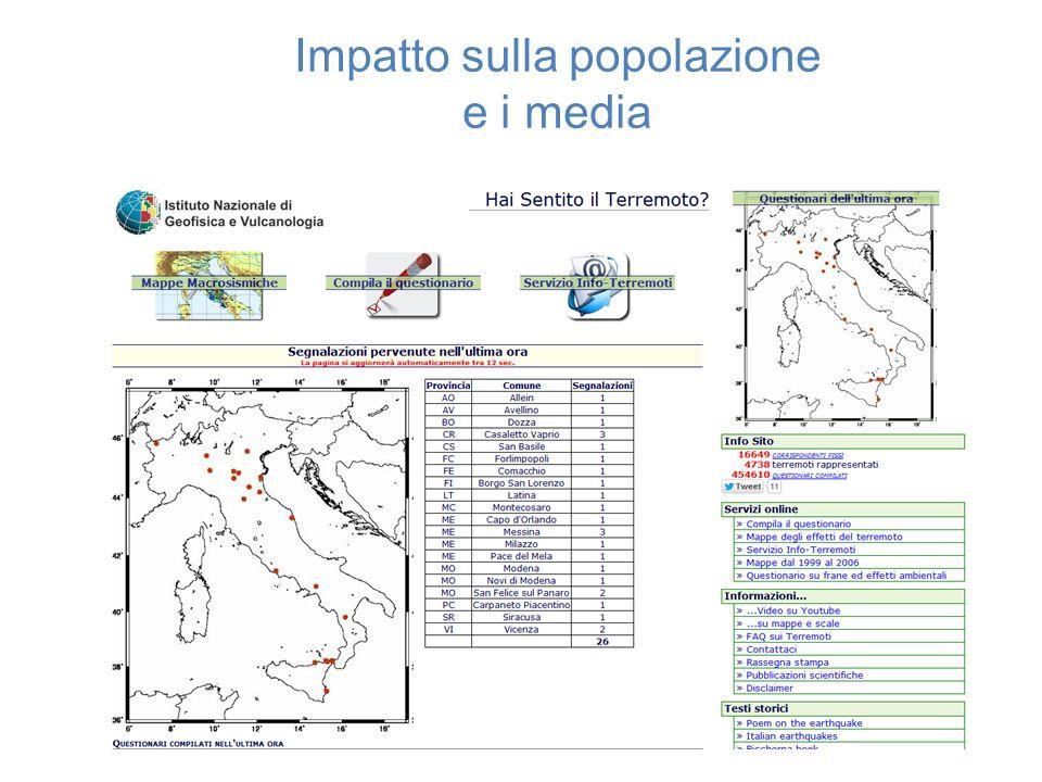 Impatto sulla popolazione e i media