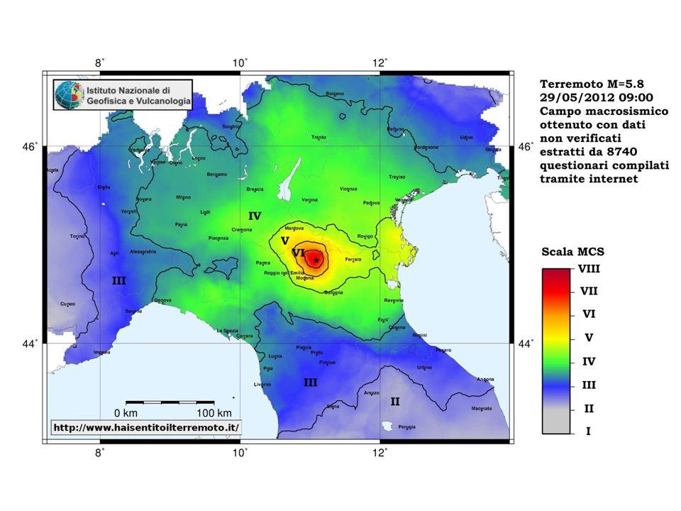 Numero di questionari compilati nel tempo dal 2007 ad oggi Il sito internet per la compilazione di questionari sul terremoto è stato aperto nel 1997 e completamente automatizzato nel 2007