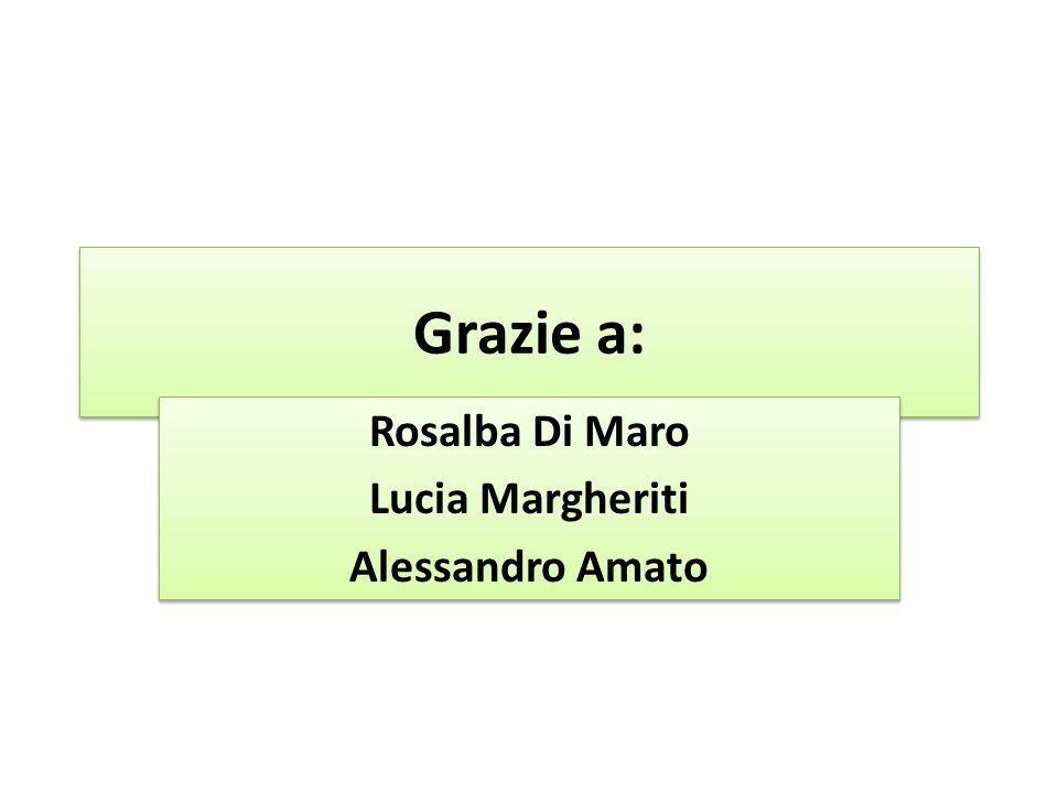 Grazie a: Rosalba Di Maro Lucia Margheriti Alessandro Amato Rosalba Di Maro Lucia Margheriti Alessandro Amato
