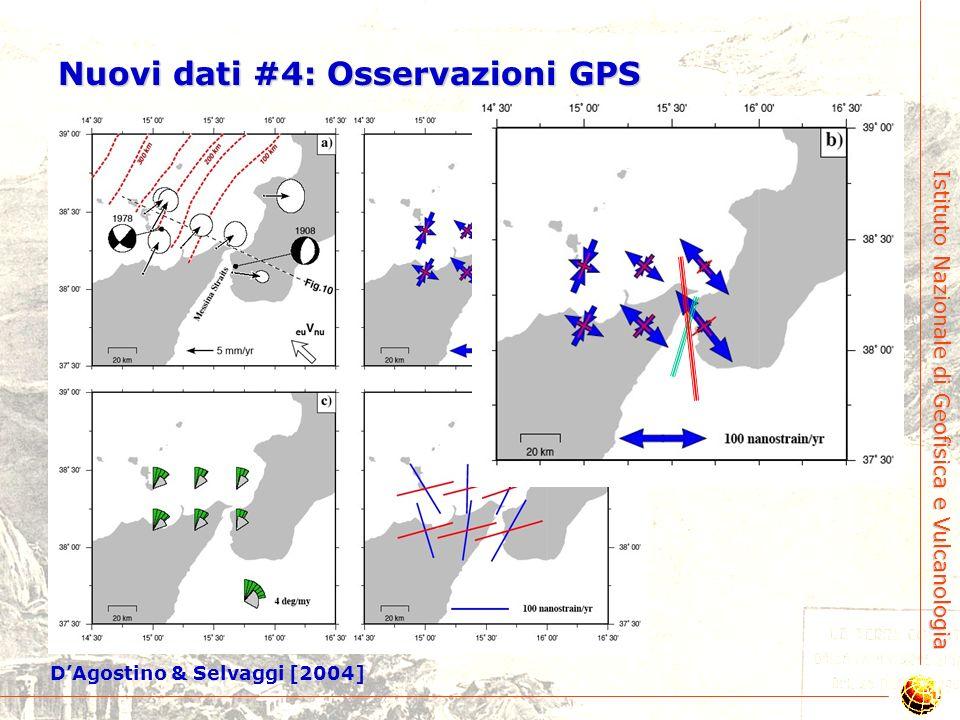 Istituto Nazionale di Geofisica e Vulcanologia Key Blue: Schick (1977) Yellow: NEIC Red: Michelini et al. (2004) Nuovi dati #3: Ricalcolo dellipocentr