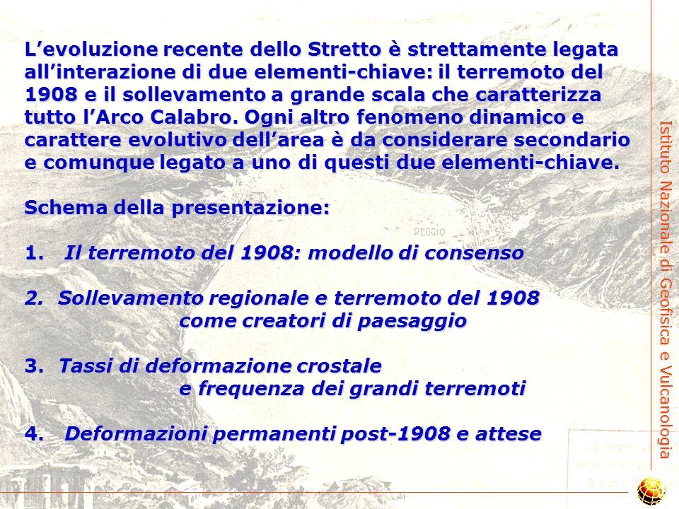 Istituto Nazionale di Geofisica e Vulcanologia Il terremoto del 1908: la geologia recente dello Stretto di Messina in una manciata di secondi Gianluca