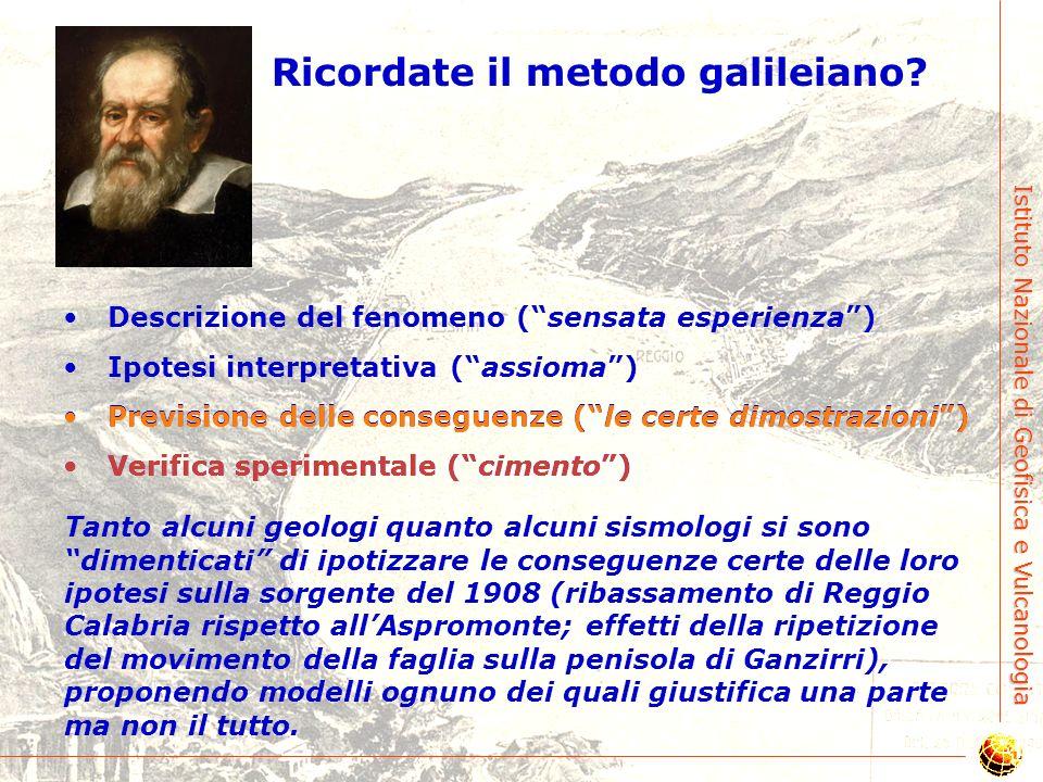Istituto Nazionale di Geofisica e Vulcanologia Amoruso et al. [2002] ? Boschi et al. [1989] Sud Nord Cè modello e modello… Non risolvibile!