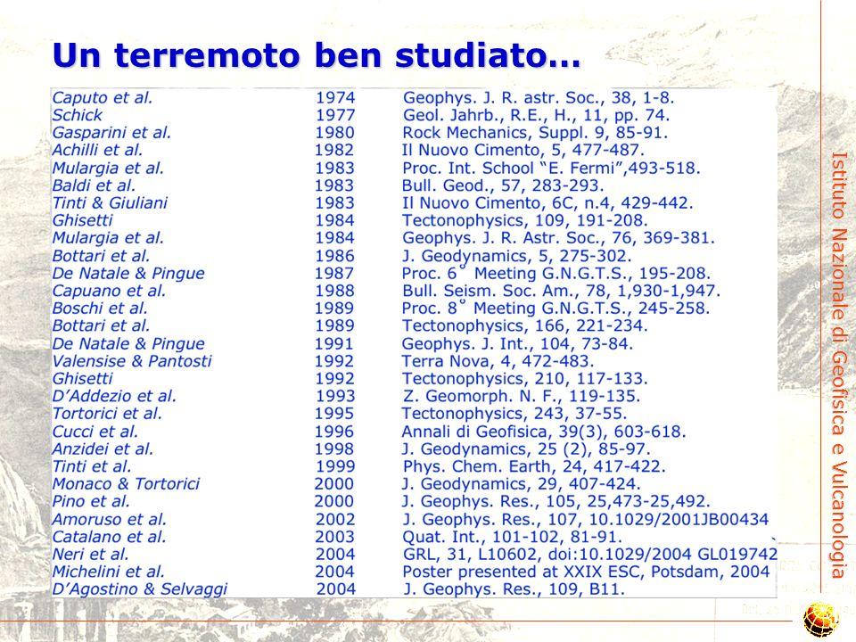 Istituto Nazionale di Geofisica e Vulcanologia 1. Il terremoto del 1908: modello di consenso