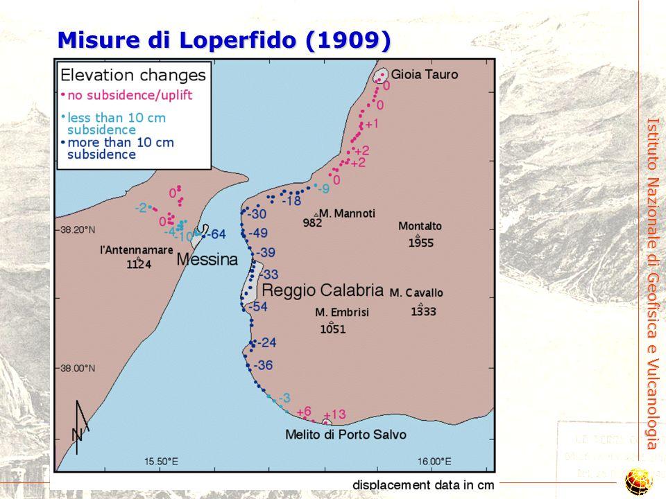Istituto Nazionale di Geofisica e Vulcanologia 4. Deformazioni permanenti post-1908 e attese
