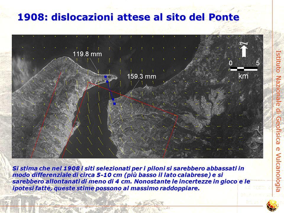 Istituto Nazionale di Geofisica e Vulcanologia 1908: dislocazioni verticali e orizzontali