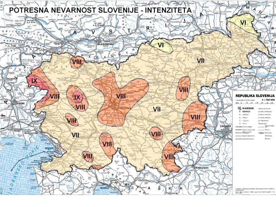 Intensità crescenti con La distanza in Croazia