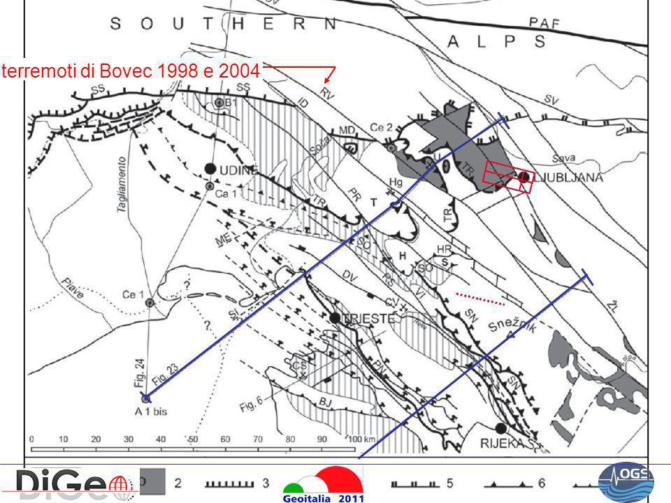 terremoti di Bovec 1998 e 2004