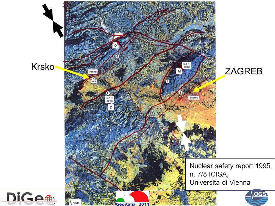 Nuclear safety report 1995, n. 7/8 ICISA, Università di Vienna Krsko ZAGREB