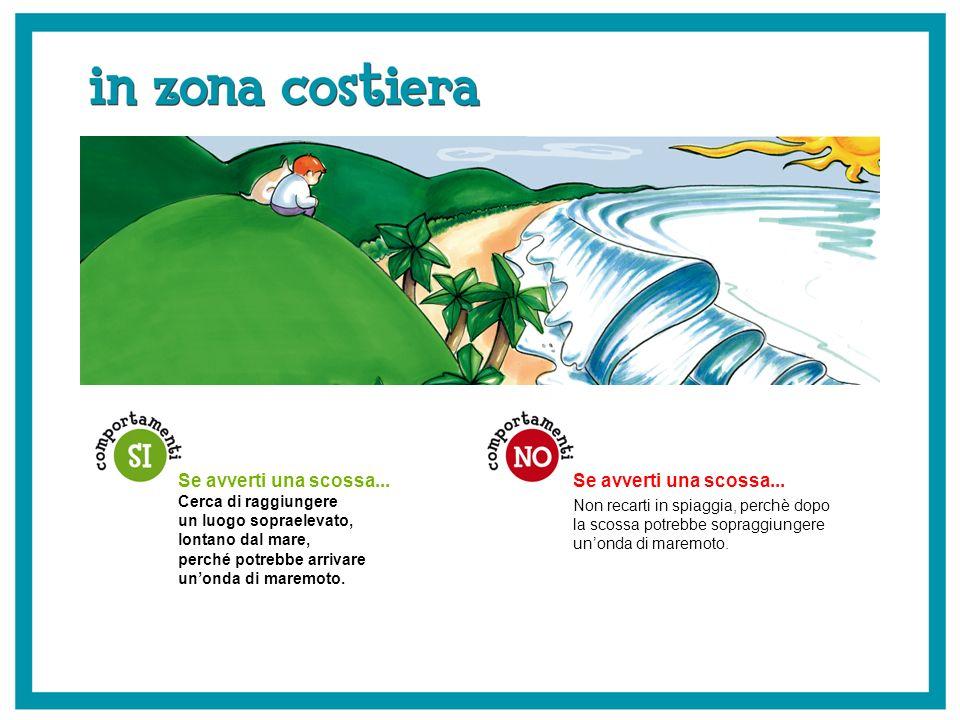 Se avverti una scossa... Non recarti in spiaggia, perchè dopo la scossa potrebbe sopraggiungere unonda di maremoto. Se avverti una scossa... Cerca di