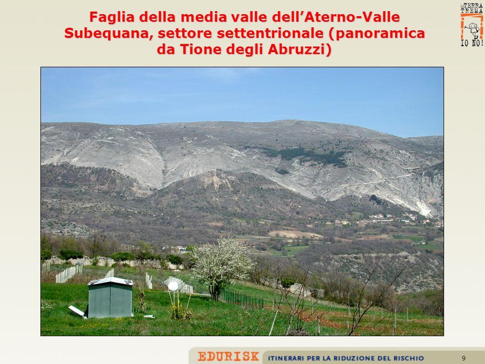 10 Faglia del Monte Parasano, bordo orientale della Piana del Fucino