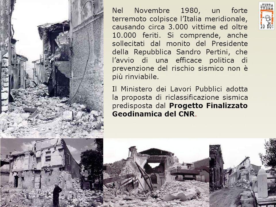 15 Nel Novembre 1980, un forte terremoto colpisce lItalia meridionale, causando circa 3.000 vittime ed oltre 10.000 feriti. Si comprende, anche sollec