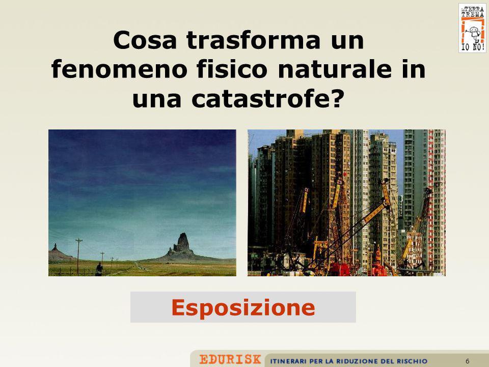6 Cosa trasforma un fenomeno fisico naturale in una catastrofe? Esposizione