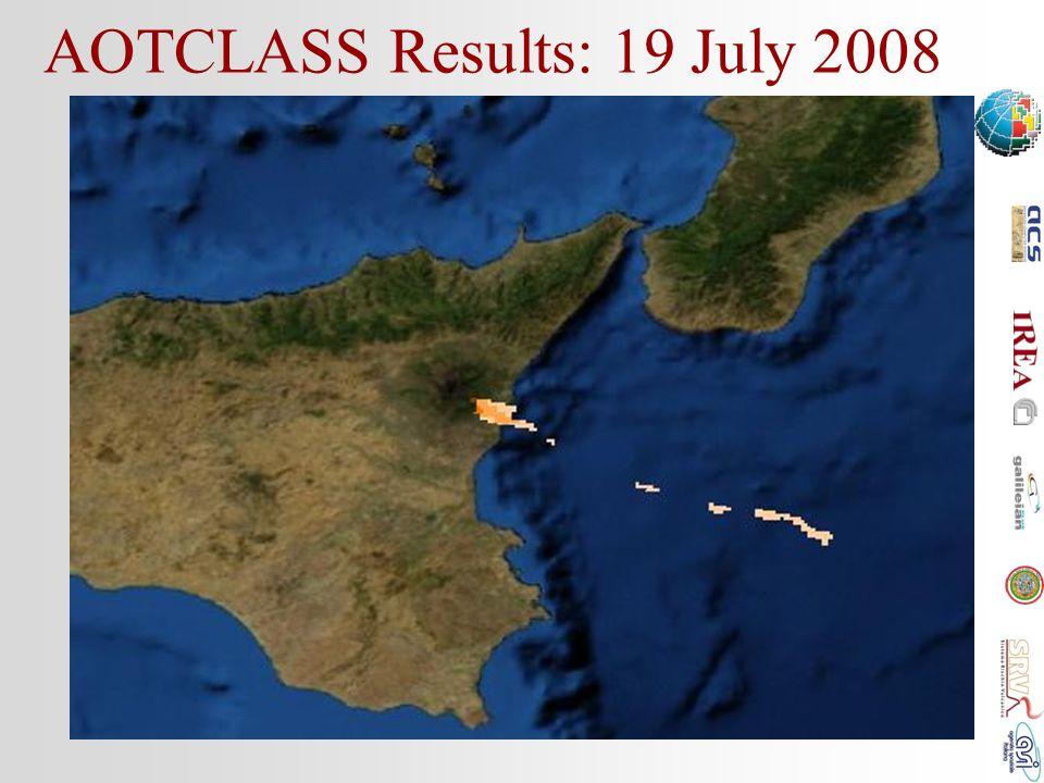 AOTCLASS Results: 19 July 2008 10:20UTC