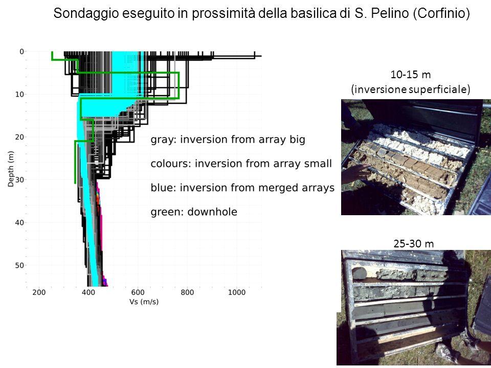 10-15 m (inversione superficiale) 25-30 m Sondaggio eseguito in prossimità della basilica di S.