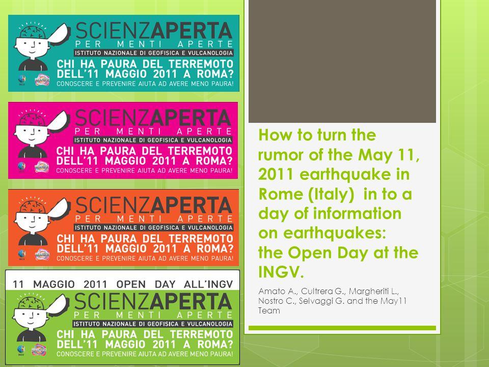 Chi ha paura del terremoto dell11 maggio 2011 a Roma.