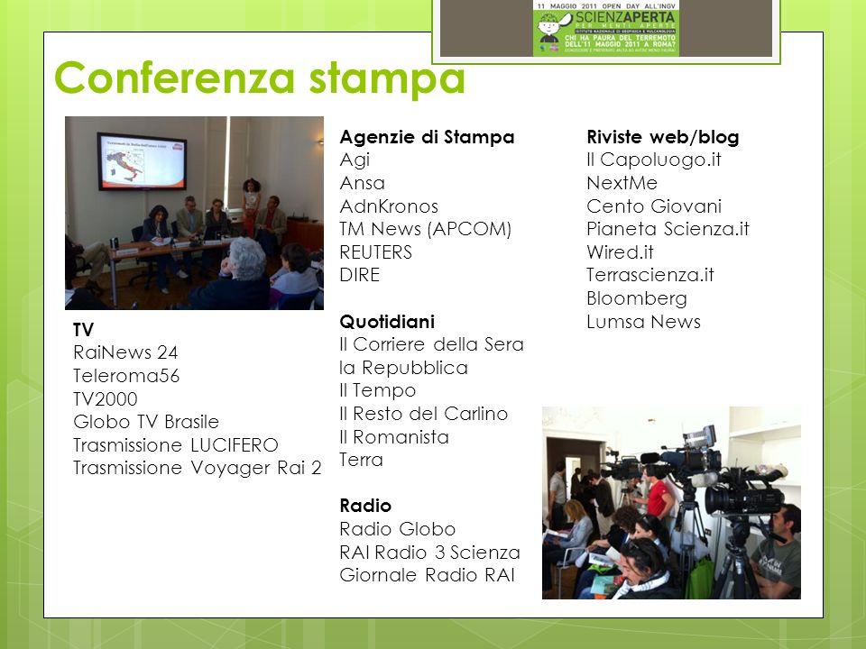 Conferenza stampa TV RaiNews 24 Teleroma56 TV2000 Globo TV Brasile Trasmissione LUCIFERO Trasmissione Voyager Rai 2 Agenzie di Stampa Agi Ansa AdnKron