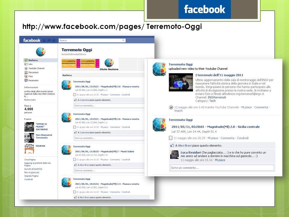 http://www.facebook.com/pages/ Terremoto-Oggi
