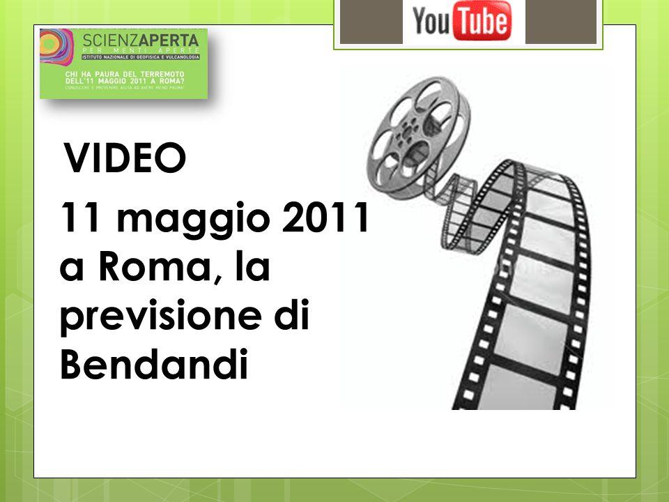 Terremoto a Roma l 11 maggio 2011.