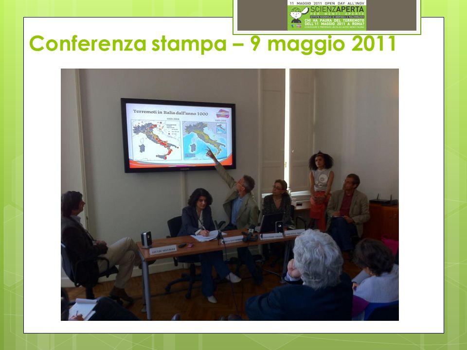 Conferenza stampa Terremoto a Roma l11 maggio 2011.
