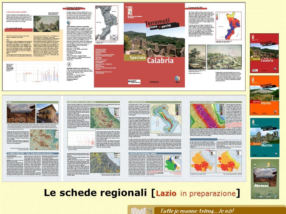Lazio in preparazione Le schede regionali [ Lazio in preparazione ]