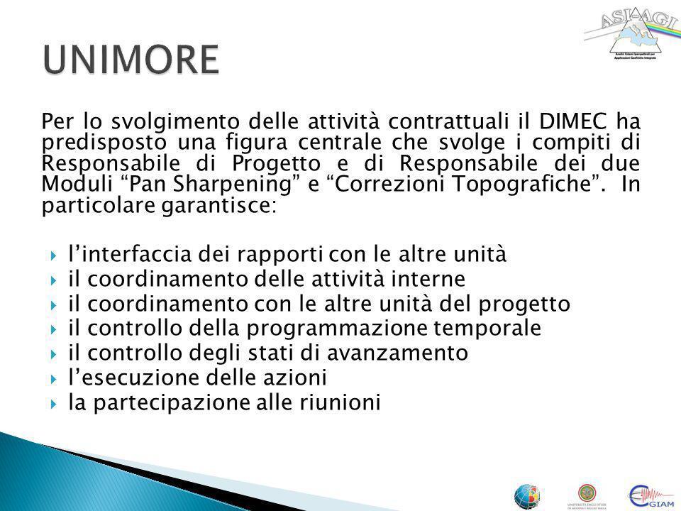 Per lo svolgimento delle attività contrattuali il DIMEC ha predisposto una figura centrale che svolge i compiti di Responsabile di Progetto e di Respo