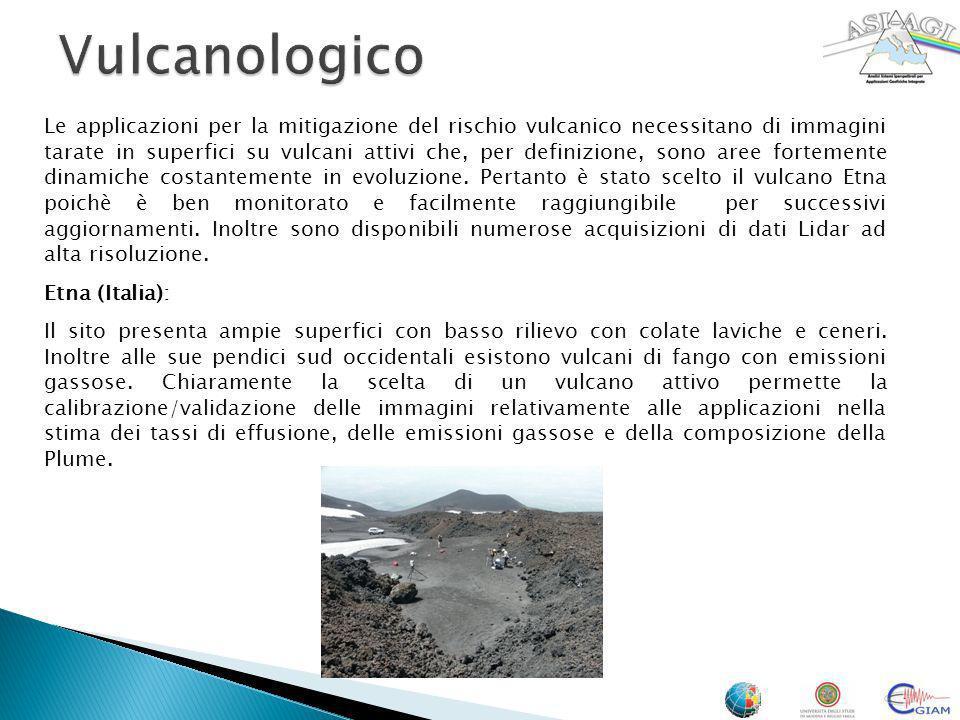 Le applicazioni per la mitigazione del rischio vulcanico necessitano di immagini tarate in superfici su vulcani attivi che, per definizione, sono aree