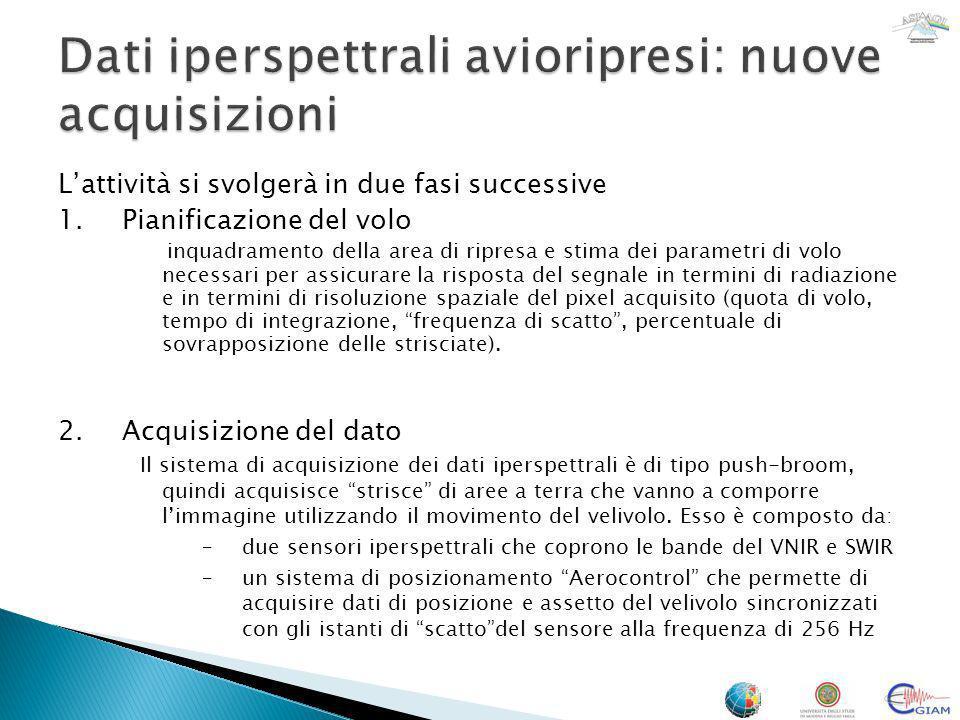 Lattività si svolgerà in due fasi successive 1.Pianificazione del volo inquadramento della area di ripresa e stima dei parametri di volo necessari per