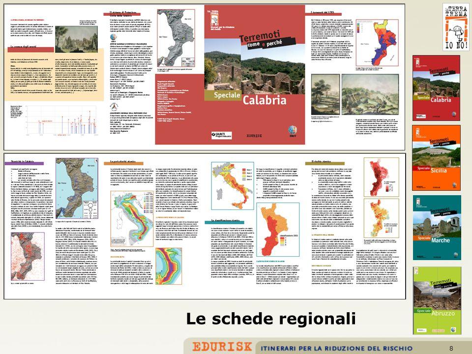 8 Le schede regionali