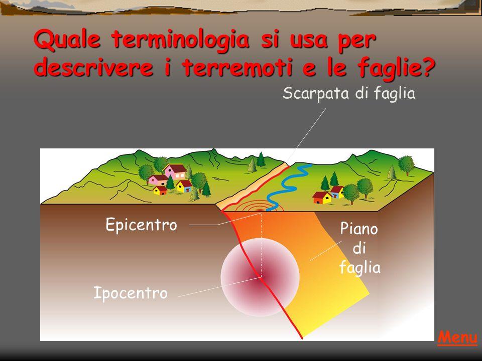 Rottura con rilascio di energia: Terremoto Spostamento permanente Il terremoto si genera nel momento in cui la roccia si rompe; la faglia rappresenta