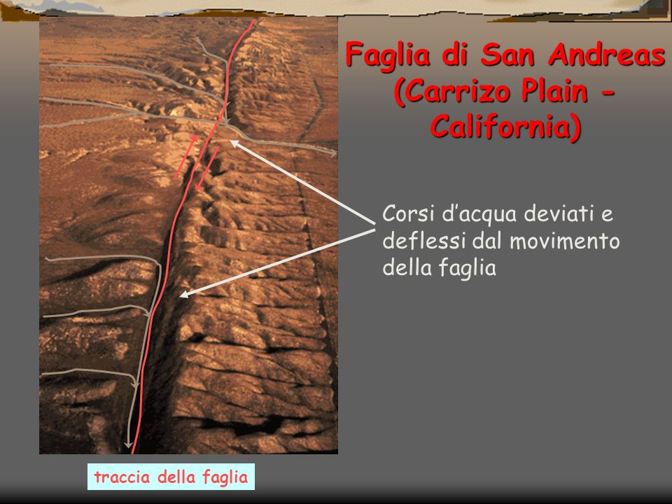 Terremoto dellIrpinia, 23/11/1980 Scarpata di faglia Piana di San Gregorio Magno (SA) Monte Carpineta (SA) La scarpata di faglia alta circa 50 cm, si