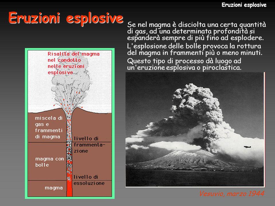 Monte St.Helens (USA), 1980 Eruzione esplosiva con colonna sostenuta.