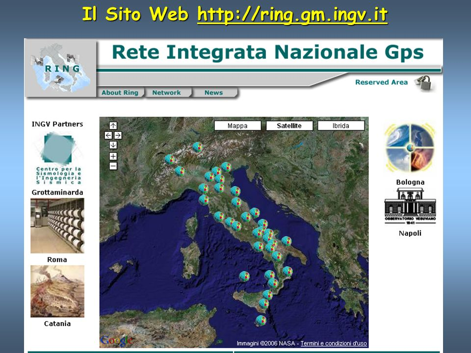 Il Sito Web http://ring.gm.ingv.it