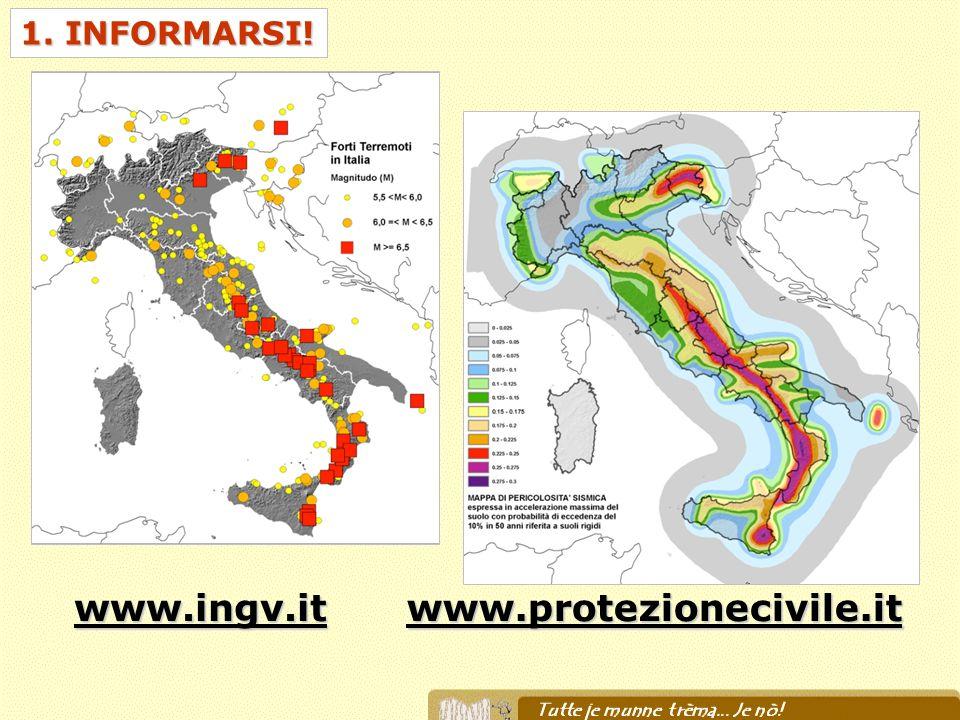 1. INFORMARSI! www.ingv.itwww.protezionecivile.it