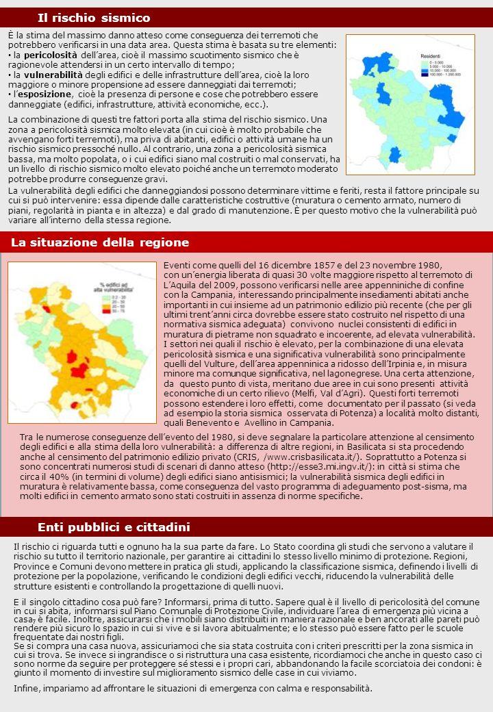 È la stima del massimo danno atteso come conseguenza dei terremoti che potrebbero verificarsi in una data area. Questa stima è basata su tre elementi: