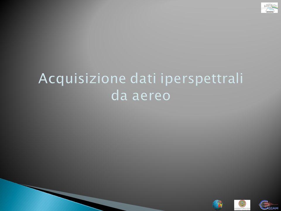 Obiettivi Acquisizione del dato iperspettrale e lidar da aereo sulle aree Test del monte Etna e Paternò.