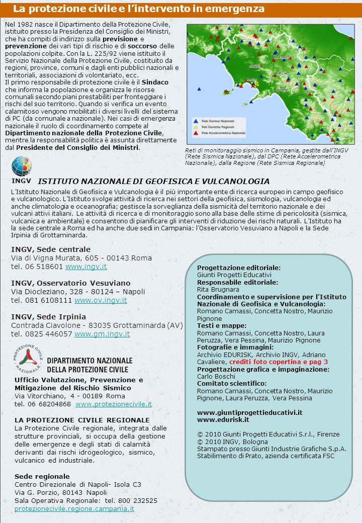 Ufficio Valutazione, Prevenzione e Mitigazione del Rischio Sismico Via Vitorchiano, 4 - 00189 Roma tel.