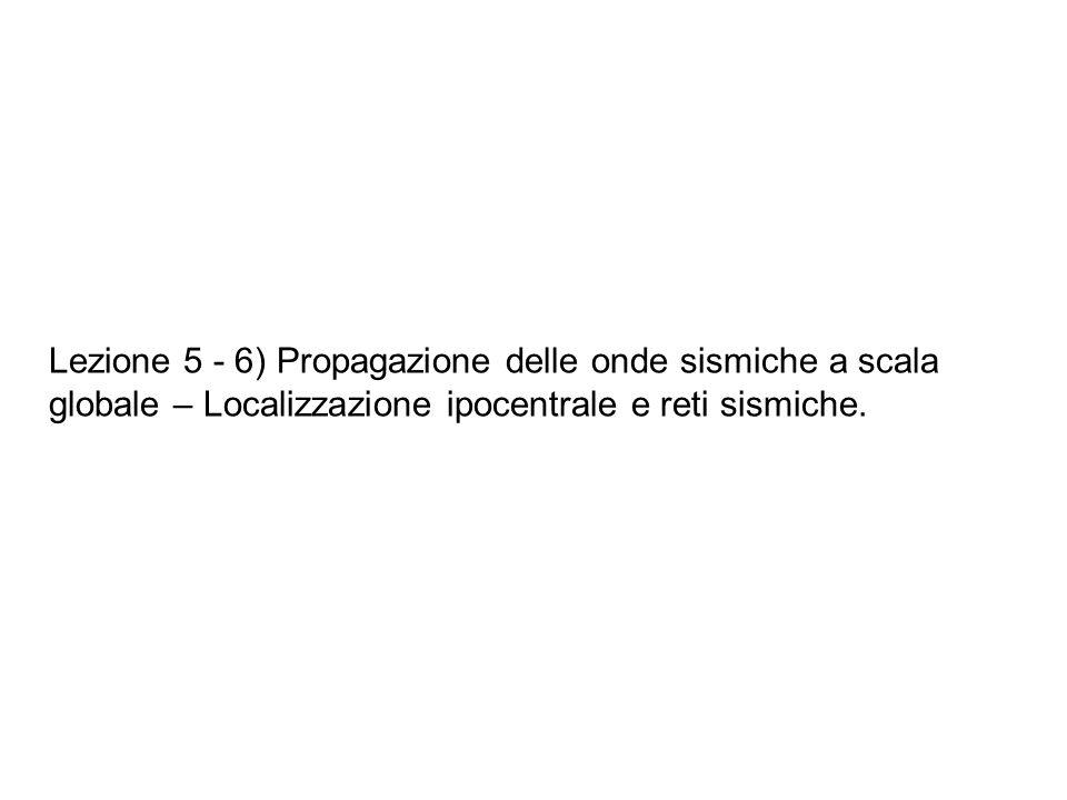 Localizzazione a singola stazione: Si effettua la composizione vettoriale delle tre componenti del segnale in tre dimensioni.