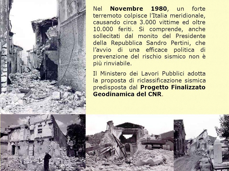 Nel Novembre 1980, un forte terremoto colpisce lItalia meridionale, causando circa 3.000 vittime ed oltre 10.000 feriti. Si comprende, anche sollecita