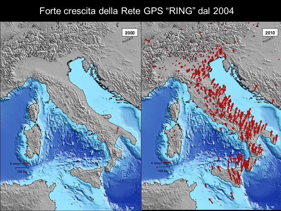 Forte crescita della Rete GPS RING dal 2004
