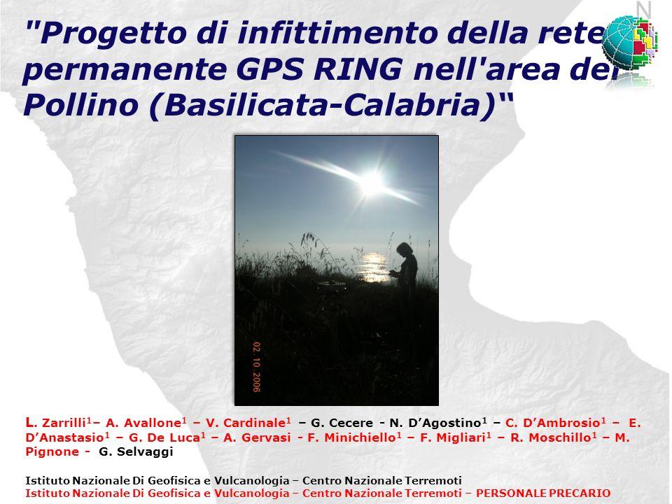 Progetto di infittimento della rete permanente GPS RING nell area del Pollino (Basilicata-Calabria) L.