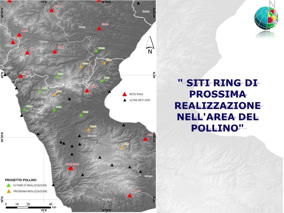 SITI RING DI PROSSIMA REALIZZAZIONE NELL AREA DEL POLLINO