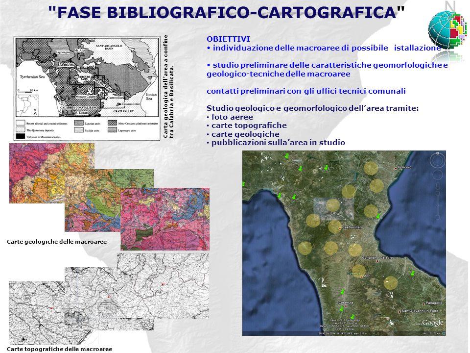 Carta geologica dellarea a confine tra Calabria e Basilicata.